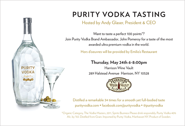 Purity Vodka Event Flyer