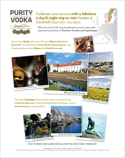 Purity Vodka Incentive Flyer