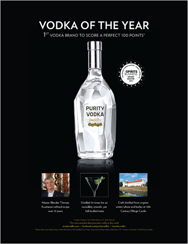 Purity Vodka Magazine Ad