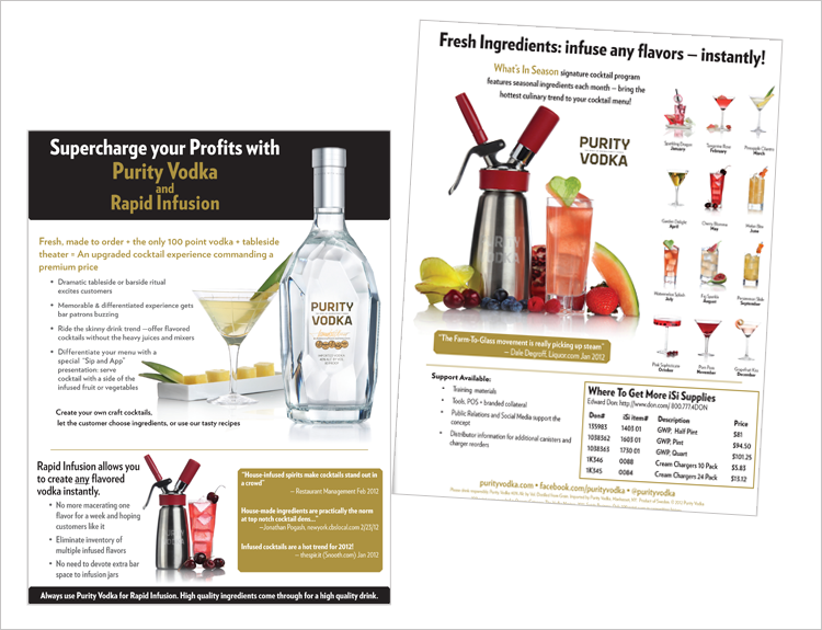 Purity Vodka Sales Flyer