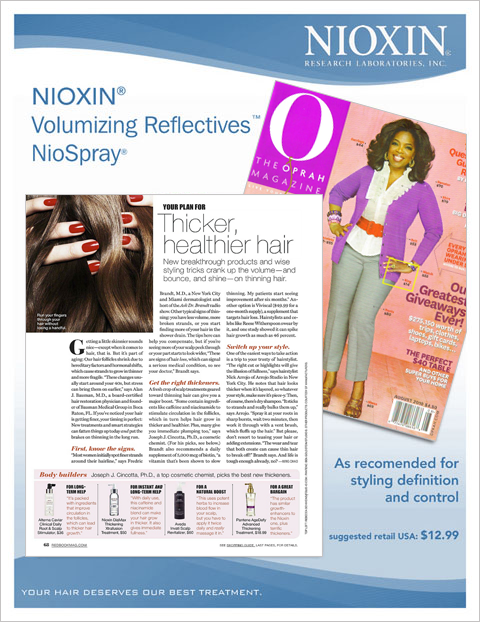 adrian naccari Nioxin Trade Publication Ad
