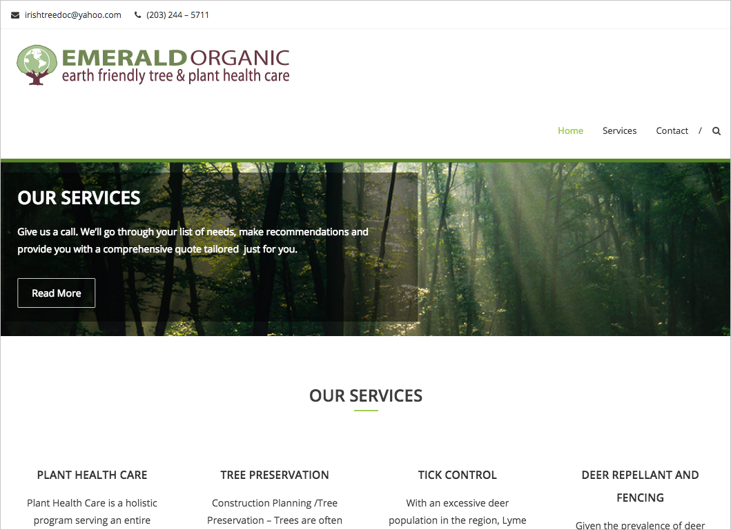 adrian naccari Emerald Organic Wordpress Site