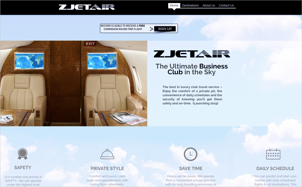 adrian naccari ZJet Air Website